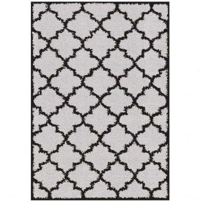 Koberec, sivá/čierna, 133x190, TATUM TYP 2