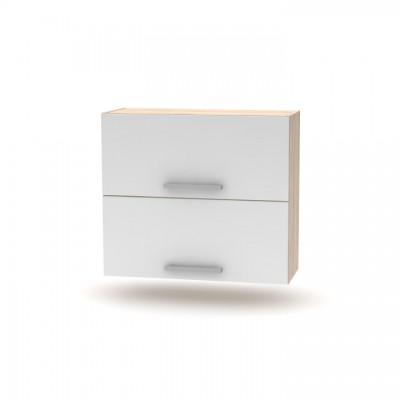 Horná výklopná skrinka 2DV, dub sonoma/biela, NOVA PLUS NOPL-015-OH