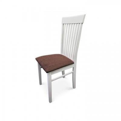Stolička, biela/hnedá látka, ASTRO NEW