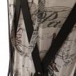 Skládací kôš na prádlo, tmavo hnedá/potlač, DZIMBO 1
