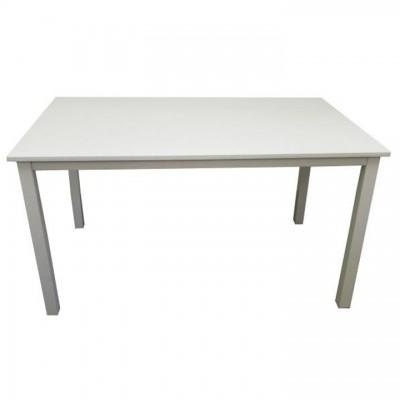 Jedálenský stôl, biela, 110 cm, ASTRO NEW