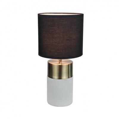 Stolná lampa, svetlosivá/čierna, QENNY TYP 20 LT8371