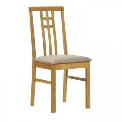 Jedálenská stolička, dub sonoma/látka krémová, SILAS