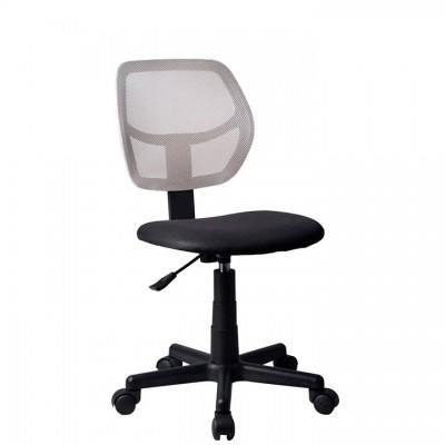 Otočná stolička, sivá/čierna, MESH