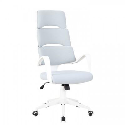 Kancelárske kreslo, svetlosivá/biela, VISAR