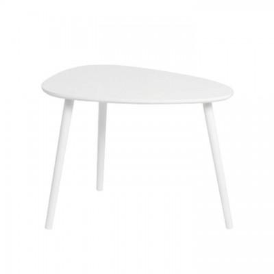 Príručný stolík, biela, DANZ