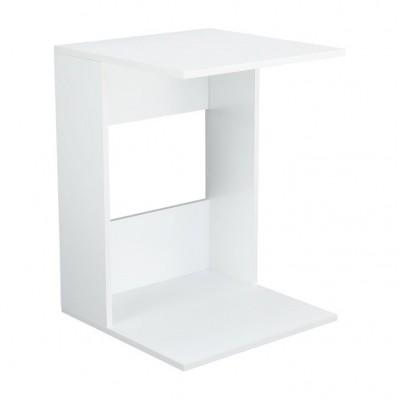 Príručný stolík, biele prevedenie, ZENOR