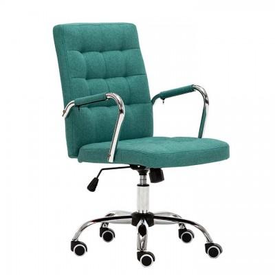Kancelárske kreslo, azúrová zelená, MORGEN