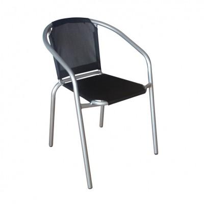 Stolička, čierna/strieborná, KERTA