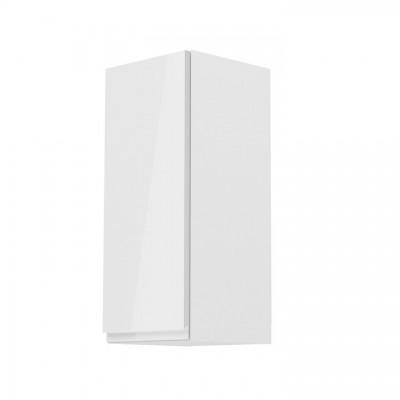 Horná skrinka, biela/biely extra vysoký lesk, ľavá, AURORA G30