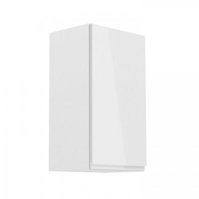 Horná skrinka, biela/biely extra vysoký lesk, pravá, AURORA G40