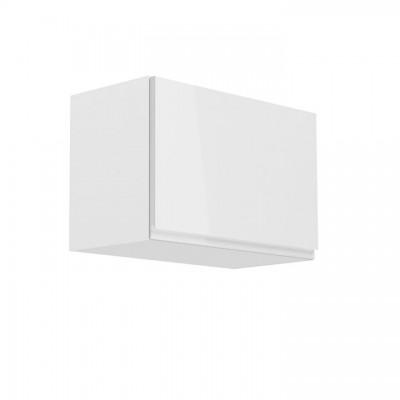 Horná skrinka, biela/biely extra vysoký lesk, AURORA G60K