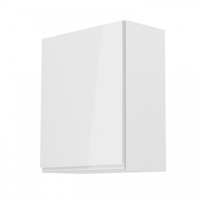 Horná skrinka, biela/biely extra vysoký lesk, ľavá, AURORA G601F