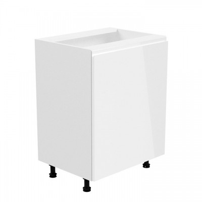 Spodná skrinka, biela/biela extra vysoký lesk, pravá, AURORA D601F