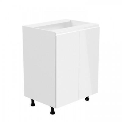 Spodná skrinka, biela/biela extra vysoký lesk, AURORA D602F