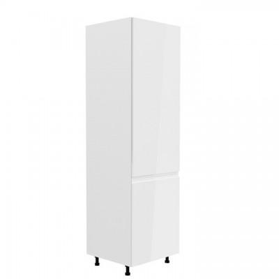 Potravinová skrinka, biela/biela extra vysoký lesk, pravá, AURORA D60R