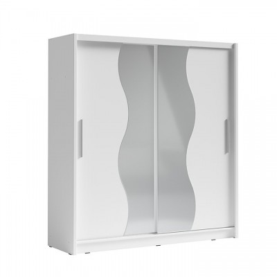 Skriňa s posúvacími dverami, biela, BIRGAMO TYP 1