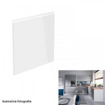 Dvierka na umývačku riadu, biela/sivá extra vysoký lesk HG, 59,6x57, AURORA