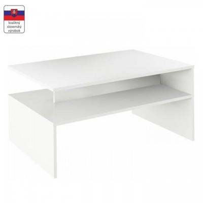 Konferenčný stolík, biela, DAMOLI