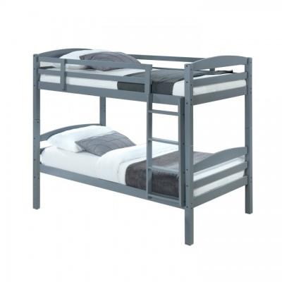 Poschodová posteľ, 90x200, masívne drevo, FORKOLA