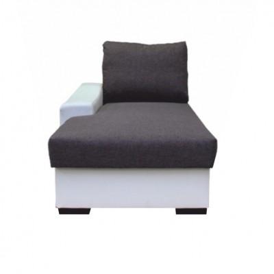 Otoman s úložným priestorom, biela/sivá, ľavý, OREGON 01-OTOM