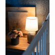 Keramická stolná lampa, sivohnedá taupe, QENNY TYP 3 AT15556