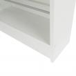 Botník, biela/zrkadlo, KAPATER 304997