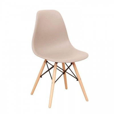 Stolička, teplá sivá/buk, CINKLA 3 NEW