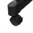 Pojazdný vešiak, nerezový kov/čierny plast, OLIVER