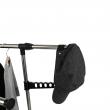 Pojazdný vešiak, nerezový kov+čierny plast, ALEXO