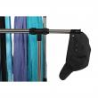 Pojazdný vešiak, nerezový kov+čierny plast, SEBO