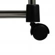 Pojazdný vešiak, nerezový kov/čierny plast, LUCO