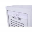 2 šuplíková komoda, biela/sivá, BIBI 2