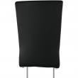 Jedálenská stolička, ekokoža čierna, biela/chróm, NEANA