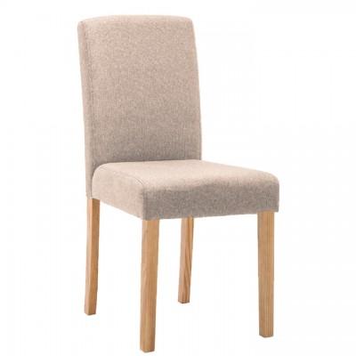 Jedálenská stolička, béžová/buk, SELUNA