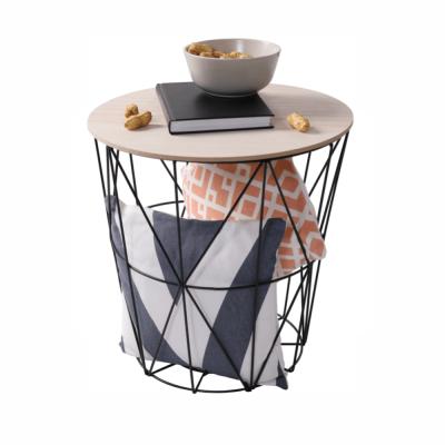 Príručný stolík, prírodná/čierna, NANCER TYP 3