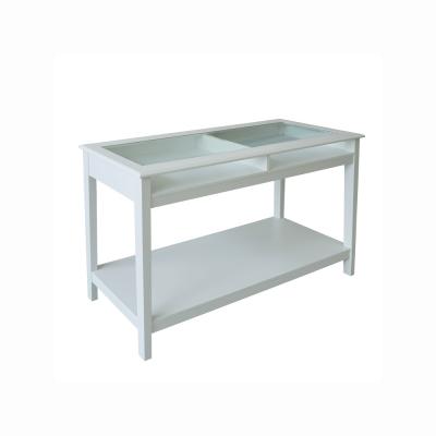 Konzolový stolík, biela, FARUS