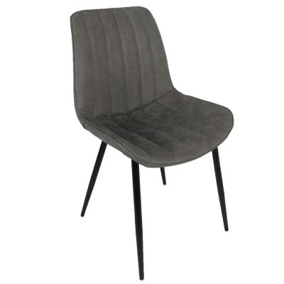 Stolička, svetlosivá/čierna, HAZAL