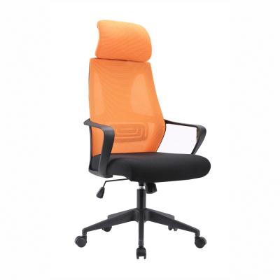 Kancelárske kreslo, čierna/oranžová, TAXIS