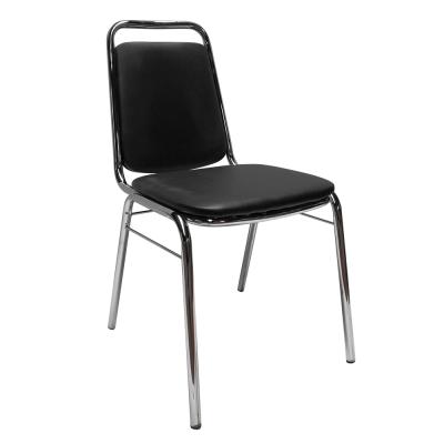 Zasadacia stolička, čierna ekokoža, ZEKI