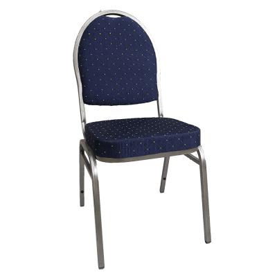 Stolička, stohovateľná, látka modrá/sivý rám, JEFF 3 NEW