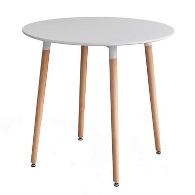 Jedálenský stôl, biela/buk, ELCAN 80