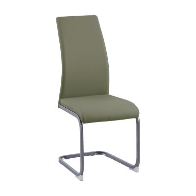 Jedálenská stolička, olivovozelená/sivá, NOBATA