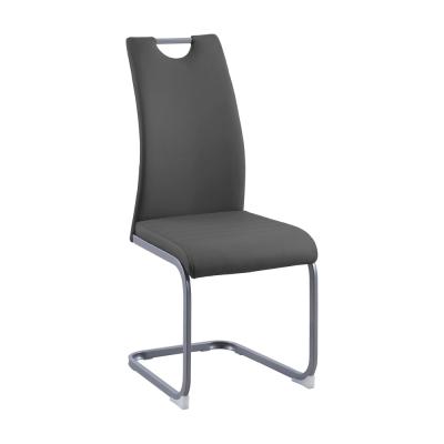 Jedálenská stolička, tmavosivá, DEKOMA