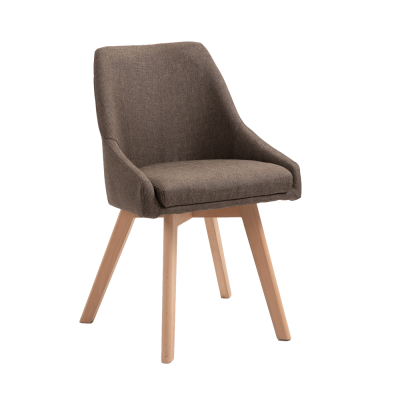 Jedálenská stolička, hnedá látka/buk, TEZA
