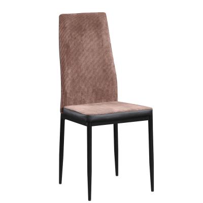 Jedálenská stolička, tmavohnedá/čierna, ENRA