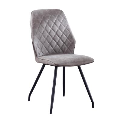 Jedálenská stolička, sivá látka s efektom brúsenej kože, HERDA