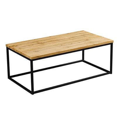 Konferenčný stolík, svetlý dub/čierna, BORMO