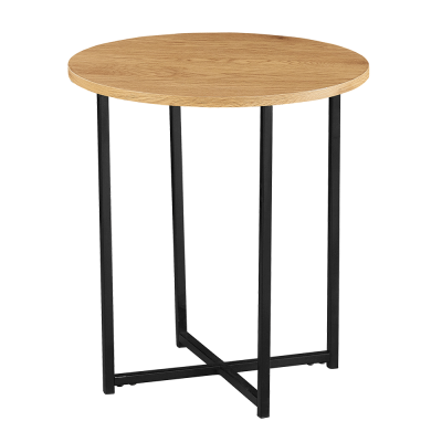 Príručný stolík, dub/čierny kov, IMSAR