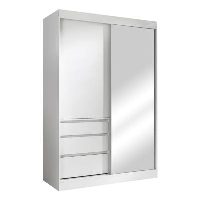 Skriňa s posúvacími dverami, biela, 140, ROMUALDA